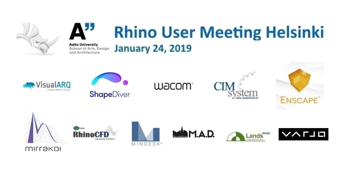 Rhino User Meeting Helsinki – January 24, 2019 | McNeel